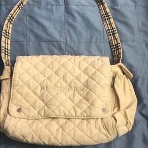 Burberry London Quilted Diaper Bag